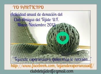 Actividad anual de donación del Club Amigas del Téjido D.F.