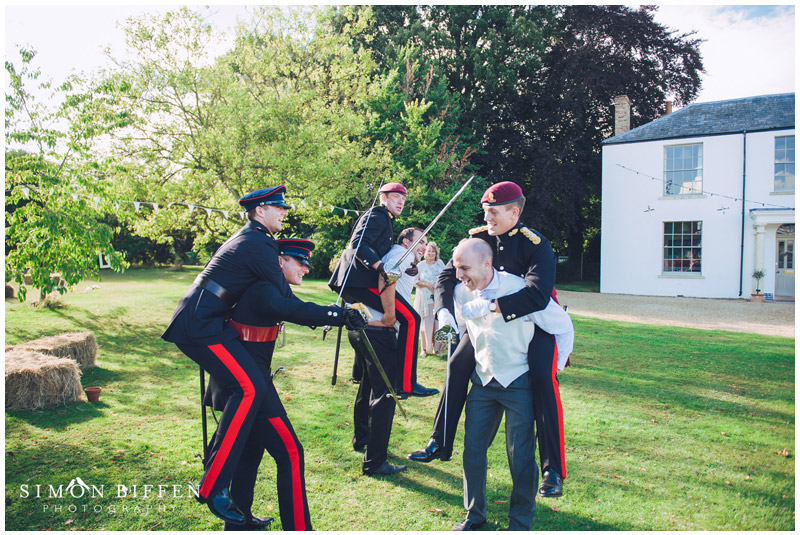 Sword fight wedding