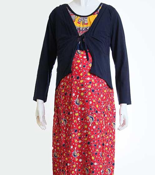 Koleksi Modis Model Baju Hamil Batik Gamis Muslim Simple