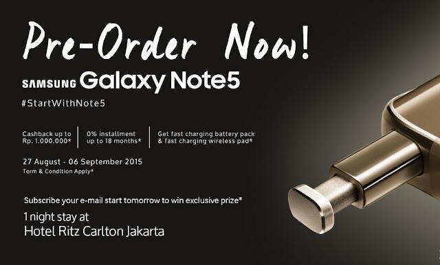 Preorder Samsung Galaxy Note 5