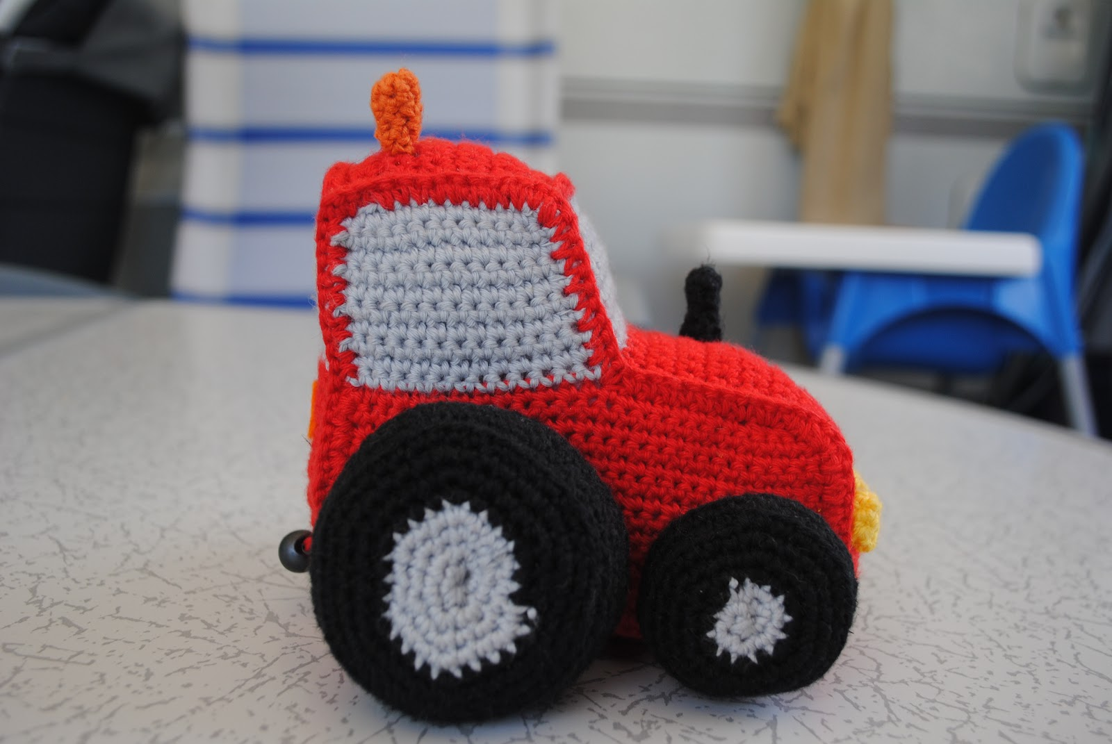 hæklet traktor opskrift
