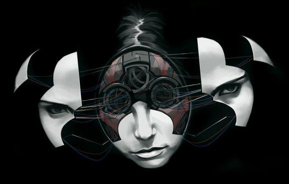 Billy Nunez ilustrações mulheres cyborg futuristas future face