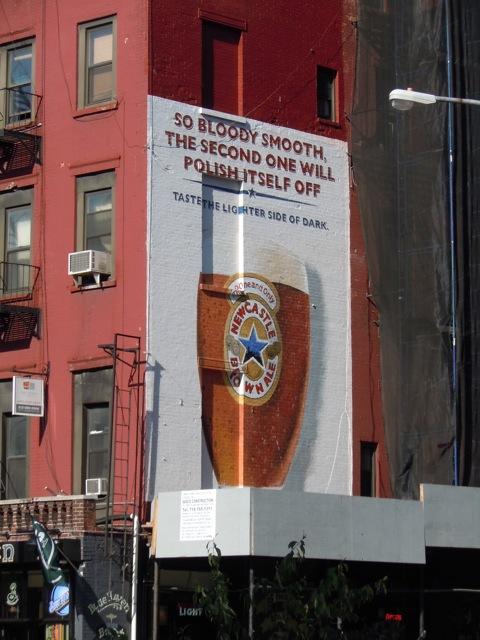 Newcastle Brown Ale billboard NYC