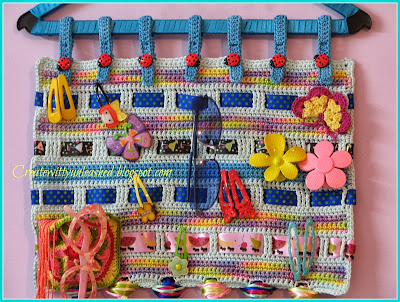 Crochet fashion accessory organizer