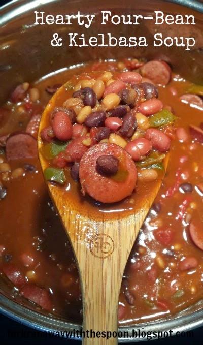 Beans, soup, chili, kielbasa hearty comfort food