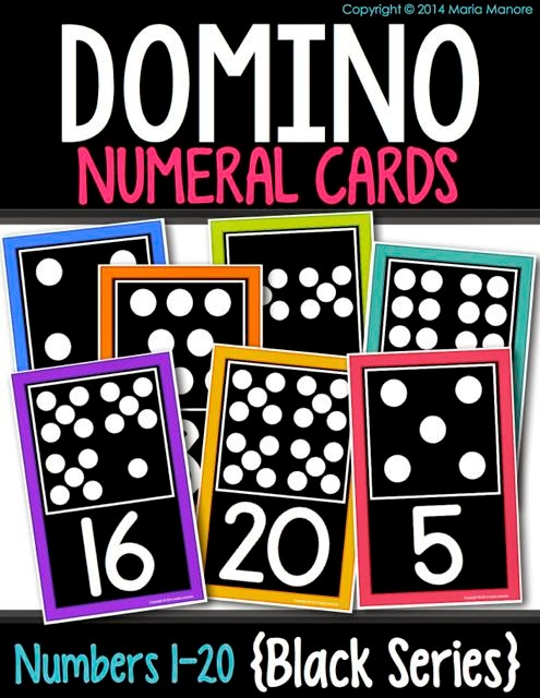 Domino Numeral Cards Black Series