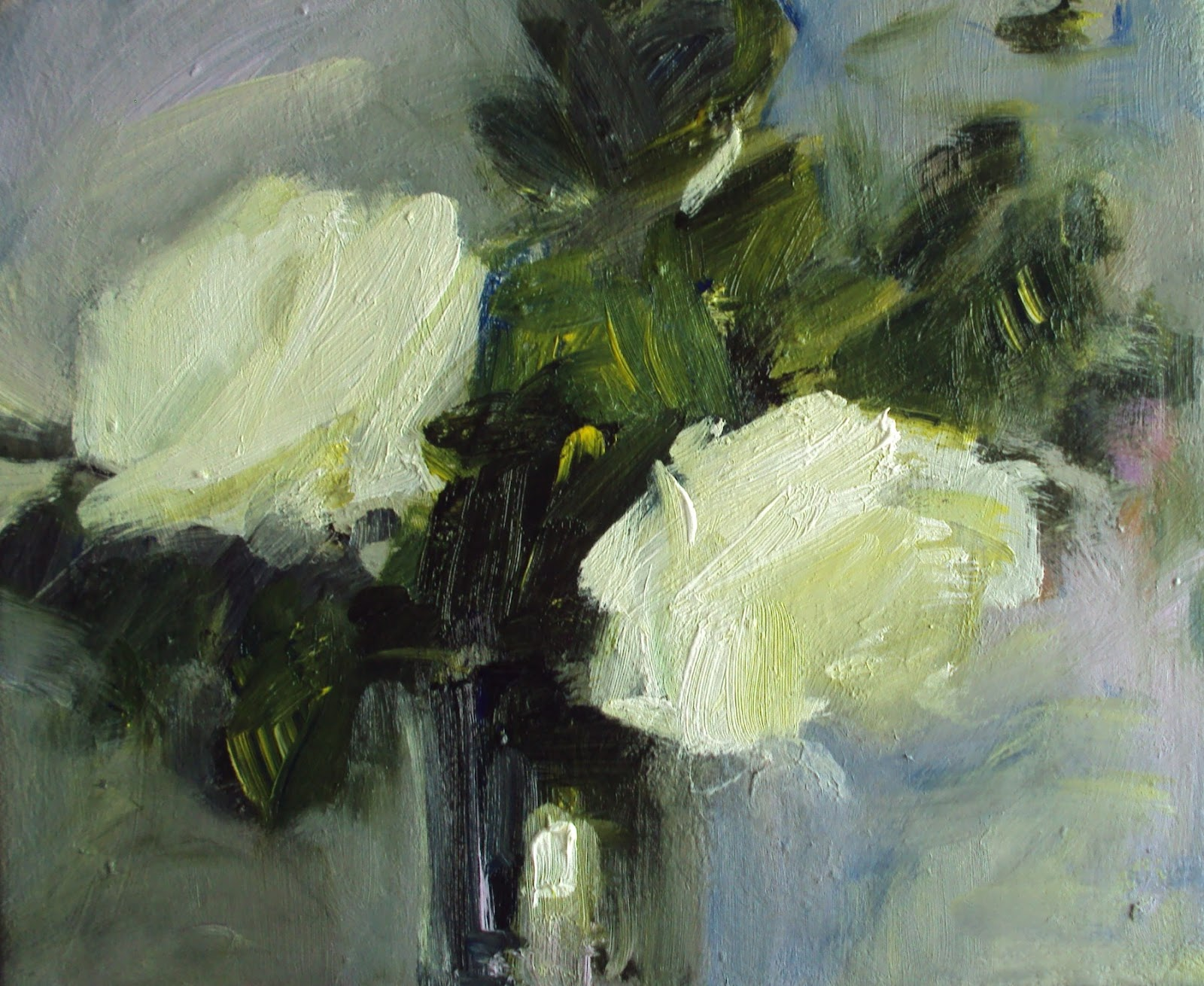 My New Paintings White Roses