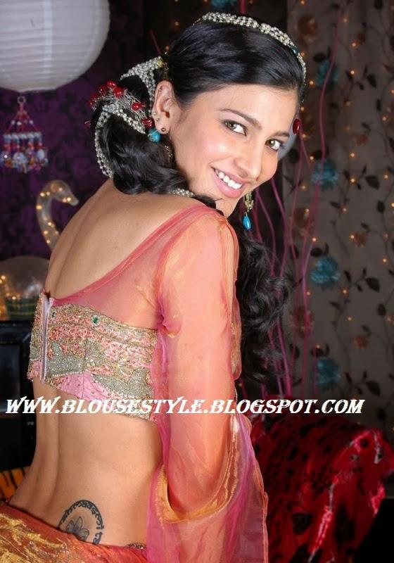 back zipped blouse