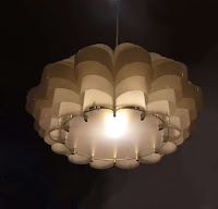Daisy 24 (large) - Plastic Bottle Ceiling lampshade ($410.03 USD)