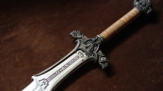 3D Knight Steel Sward Stunning HD Desktop Wallpaper