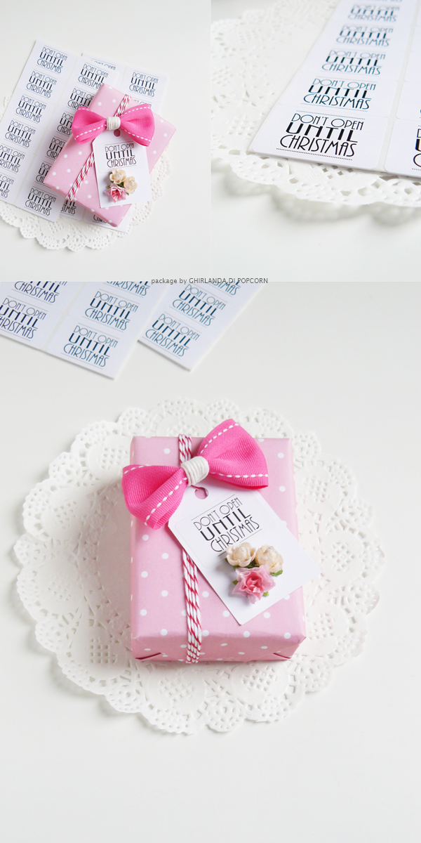 pretty pink christmas package