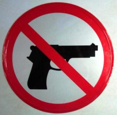 DilarangMembawa Senjata Api