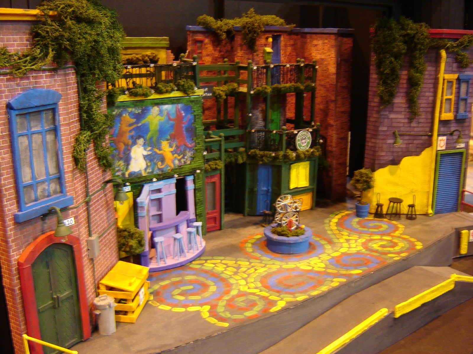The set of Alleycats: The Musical