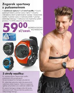 Zegarek sportowy z pulsometrem Biedronka ulotka