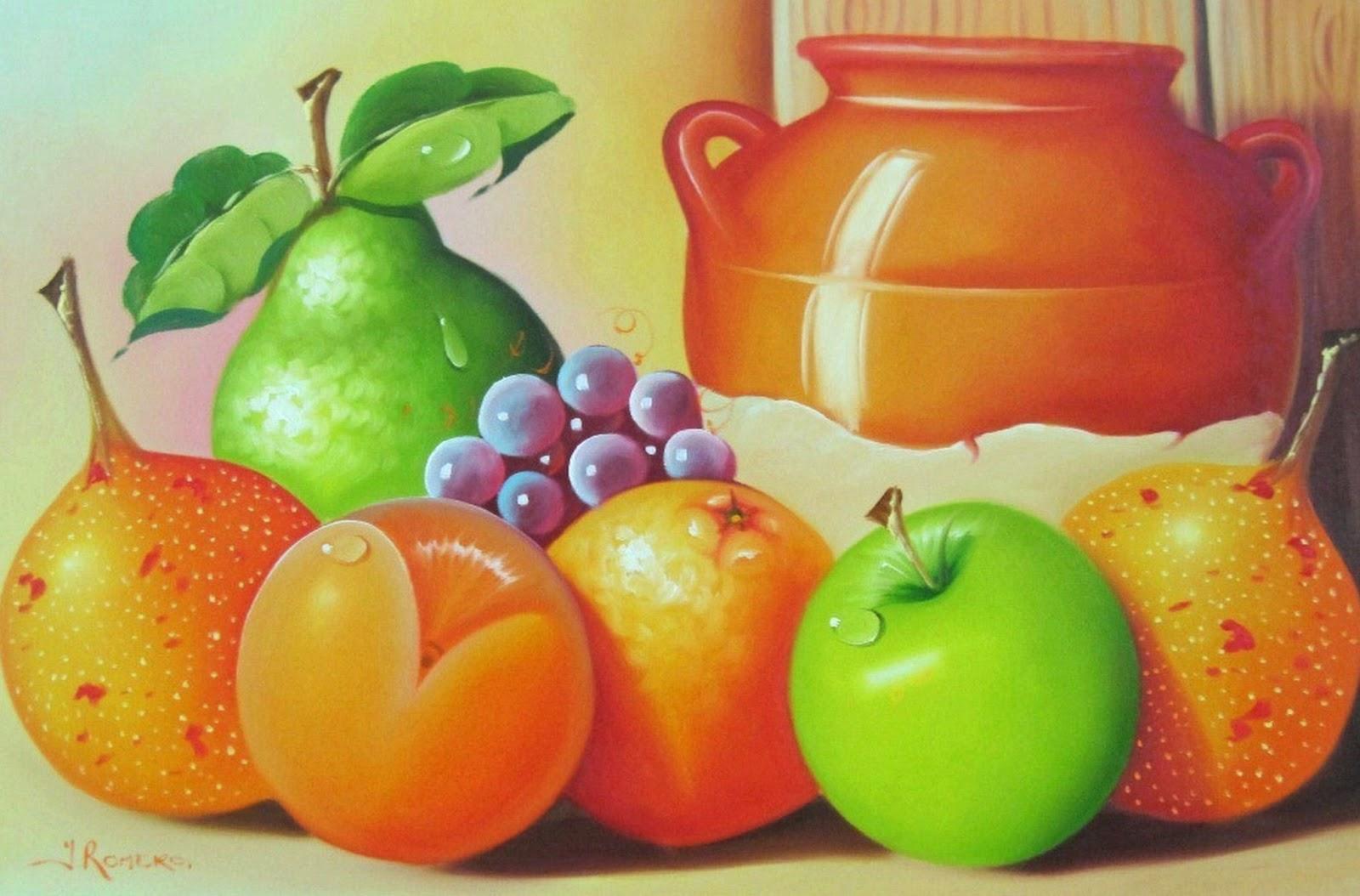 cuadros pintados al oleo para comedor