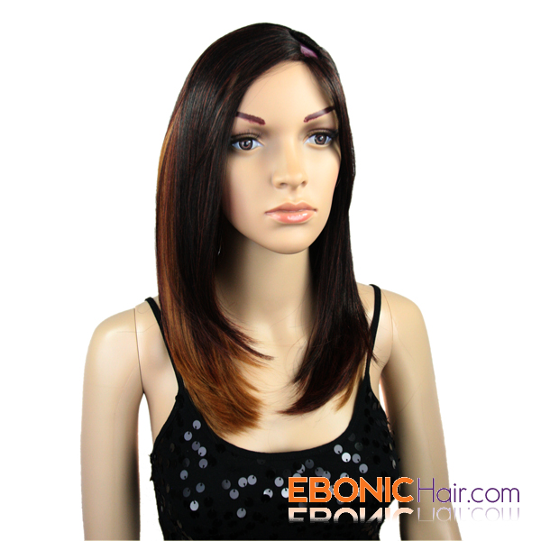 ... INVISIBLE PART WIG is used, curly your hair with curling iron