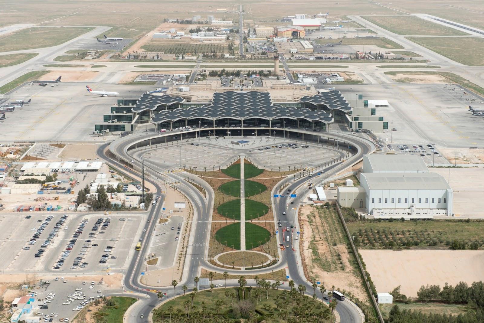 Queen Alia International Airport in Amman  Jordan  by Foster    Queen Alia Airport Arrivals