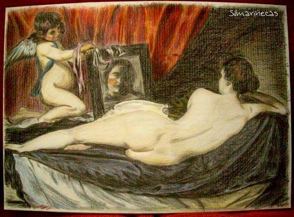 Dama del espejo, copia para el concurso de Bar Verin