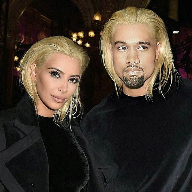 Cabello de Kim Kardashian es igual a Kanye West
