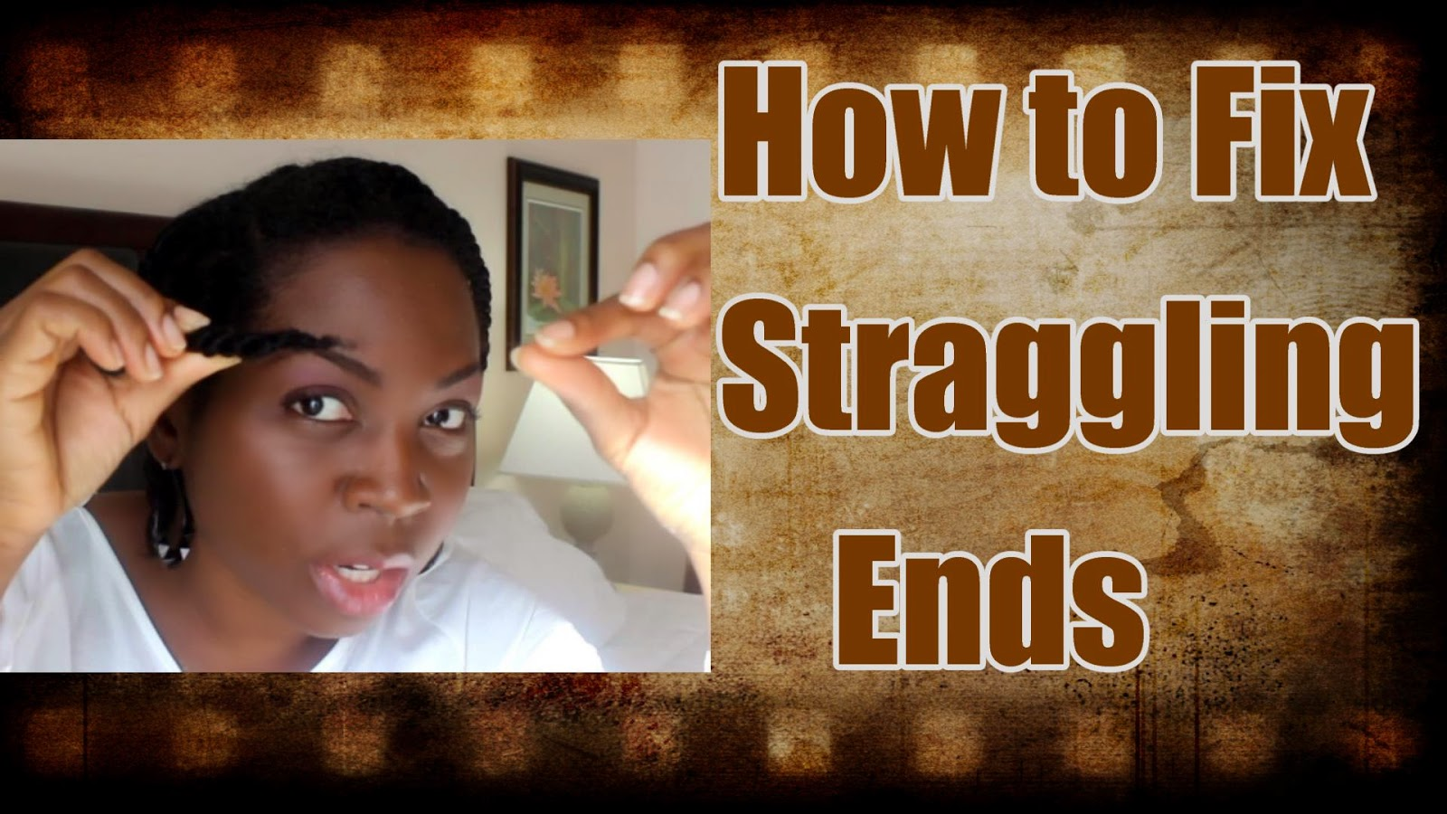 How to fix straggling ends Natural Hair