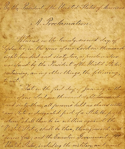 Emancipation proclamation date