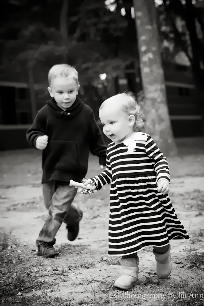 One Year Old Running, Kids Chasing