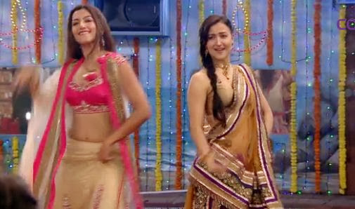 Gauhar and Elli rocks with their dance moves on an item number