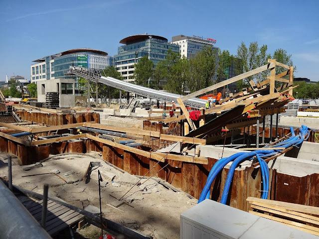 Budowa stacji metra Rondo Daszyńskiego