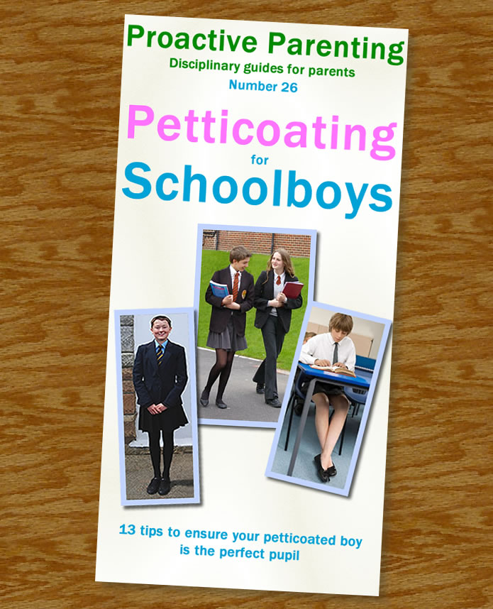 petticoating for schoolboys booklet look inside from the short story