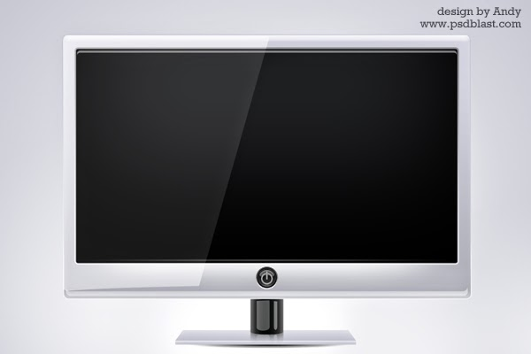 PSD Computer Monitor Screen