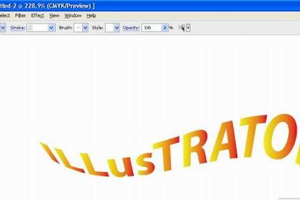 Warping logo teks
