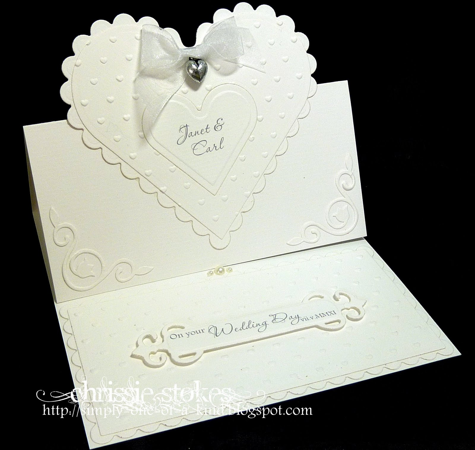 Simply One of a Kind: Easel Wedding Card