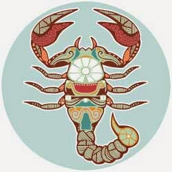 Logo zodiak bintang scorpio