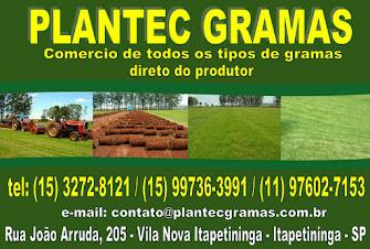 PLANTEC GRAMAS Comércio de todos os tipos de gramas. Direto do produtor.