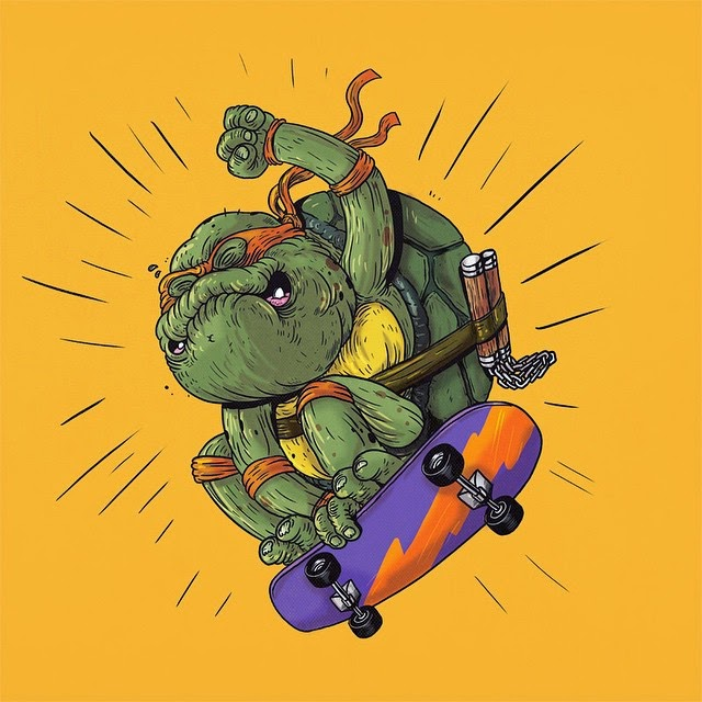 Michelangelo de As Tartarugas Ninja - Famous Oldies por Alex Solis