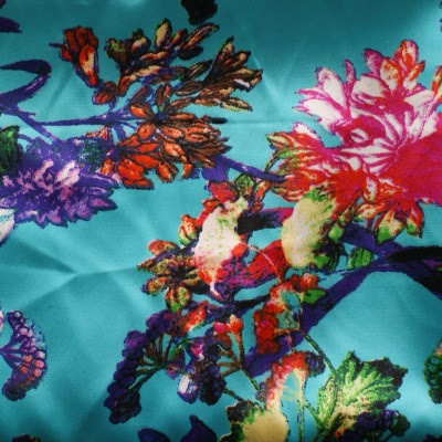 floral satin fabric