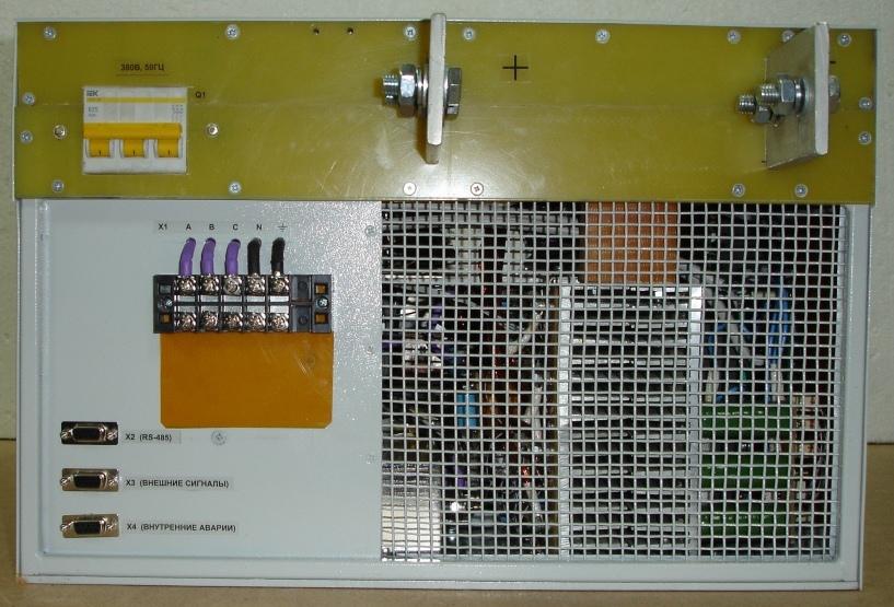 Панель подключения сети, нагрузки и управляющих кабелей
