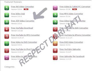 Gambar pilihan untuk instalasi 3gp