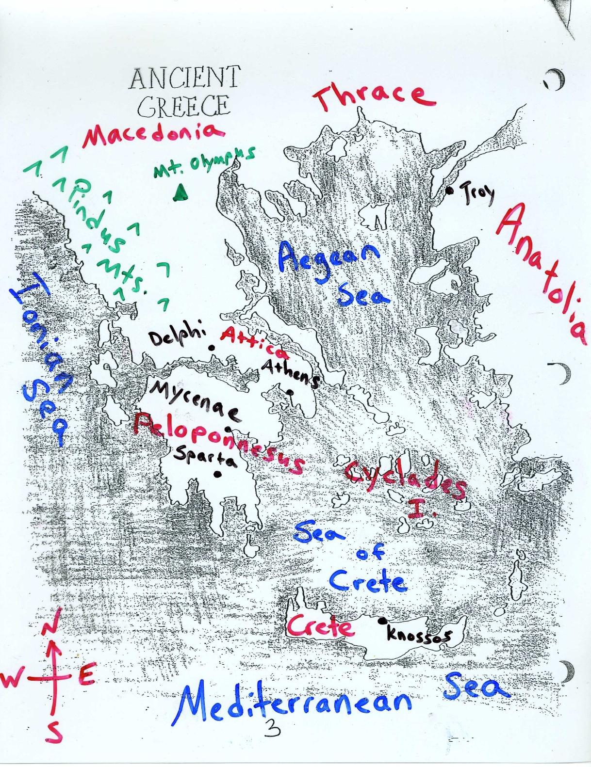 Greece Map Pindus Mountains
