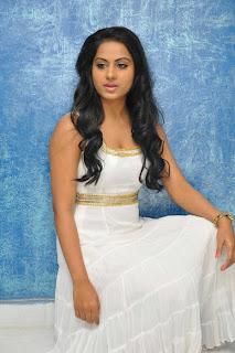 Rachana Mourya Hot in White Dress Pics