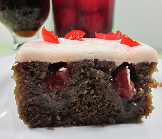 Cherry Poke Cake With Maraschino Cherries