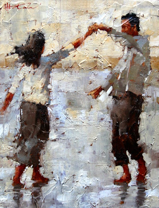 pintura de casal dançando