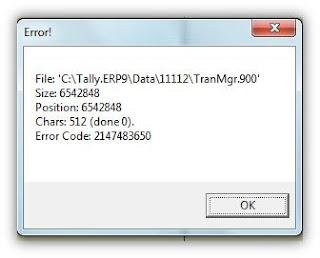 error 2147483650