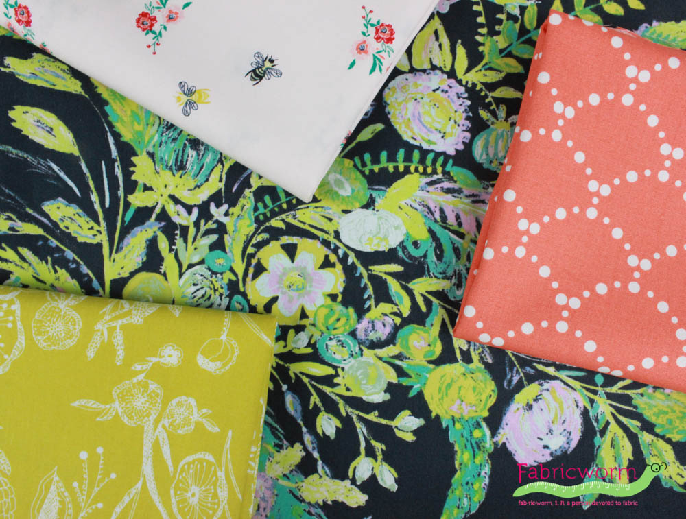 K-21... Art Gallery Fabrics Microburst Tropics Stretch Jersey Knit Dress Fabric
