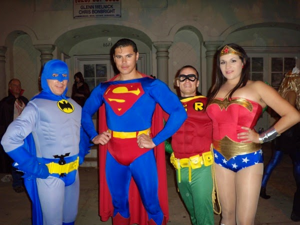 West Hollywood Halloween DC Superhero costumes 2009