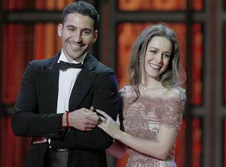 Gala Premios Goya 2012 - Silvia Abascal y Miguel Ángel Silvestre