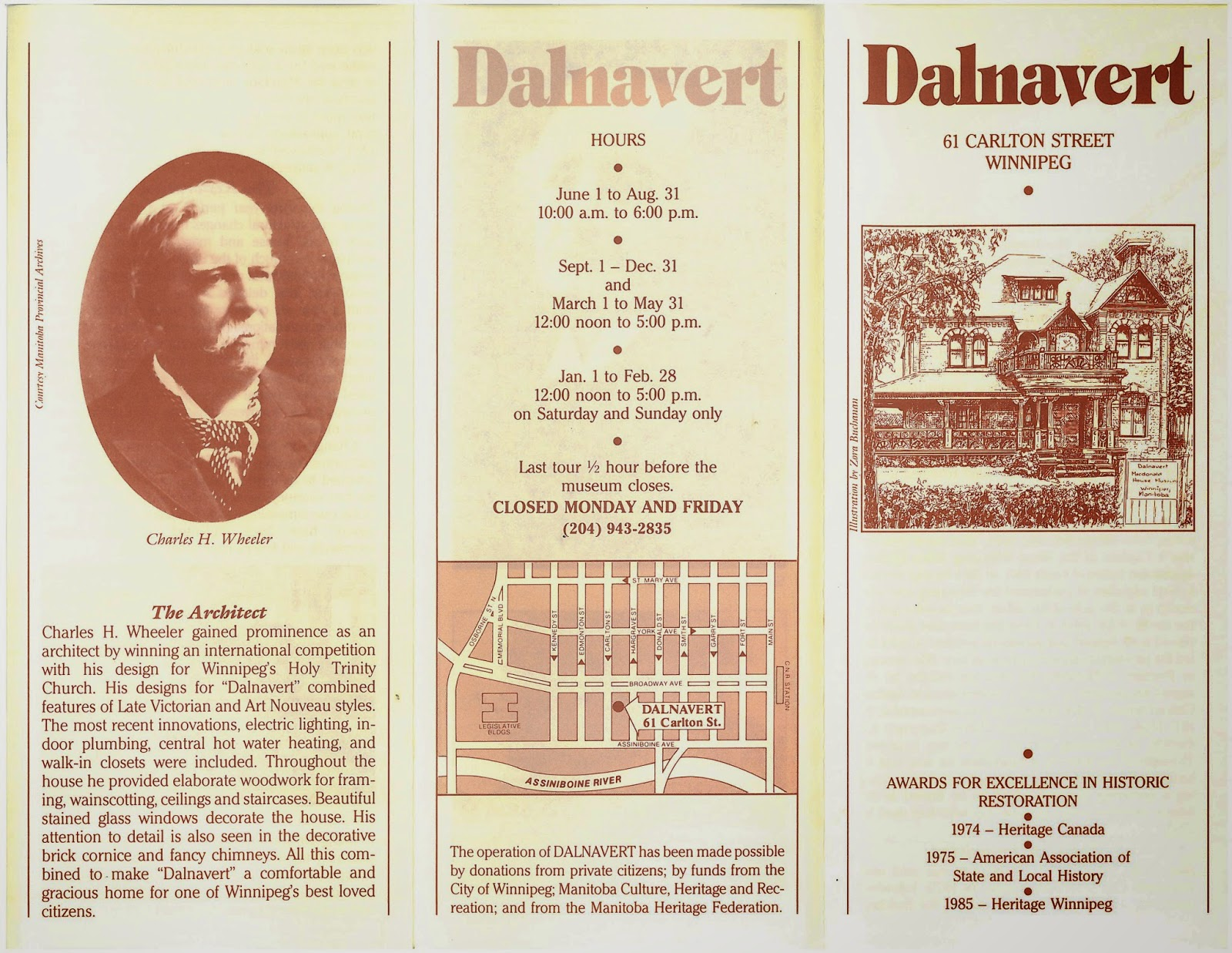 Old brochure from the Dalnavert Museum