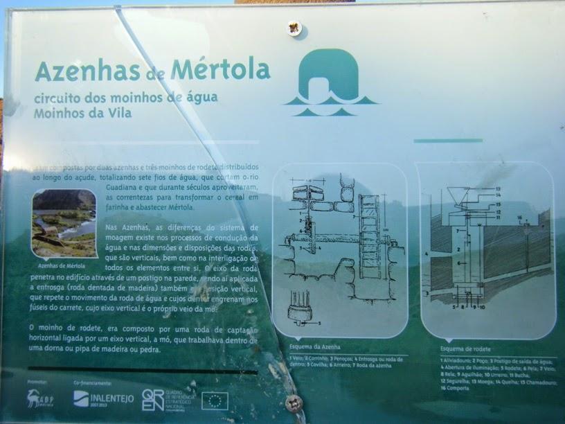 Placa informação Azenhas de Mértola