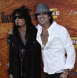 Tommy Lee e Nikki Sixx