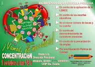 Concentración y abrazo verde simbólico 9 Octubre Segovia